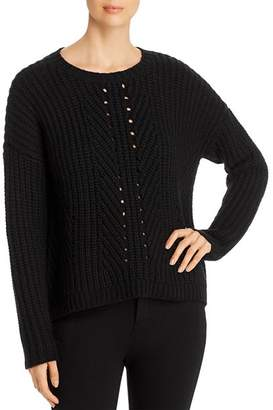 Eileen Fisher Cashmere-Wool Boxy Sweater