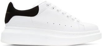 Alexander McQueen White Oversized Sneakers $575 thestylecure.com