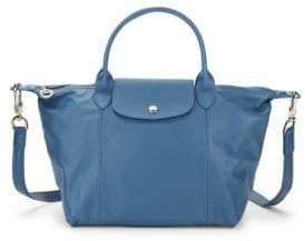 Longchamp Le Pliage Cuir Leather Top Handle Bag