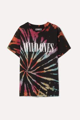 Amiri Wild Ones Printed Tie-dyed Cotton-jersey T-shirt - Black