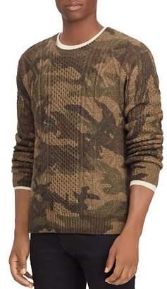 Polo Ralph Lauren Camouflage-Print Aran Sweater