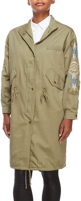 Nanette Lepore Nanette Army Embroidered Anorak Jacket