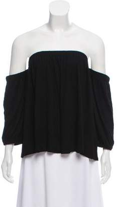 Ella Moss Long Sleeve Off-The-Shoulder Top w/ Tags