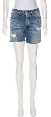 Acne Studios Distressed Mini Shorts blue Distressed Mini Shorts