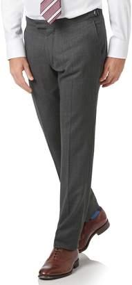 Charles Tyrwhitt Charcoal Slim Fit Tan Stripe British Luxury Suit Wool Pants Size W32 L32