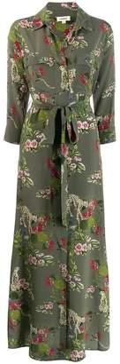 L'Agence floral maxi dress