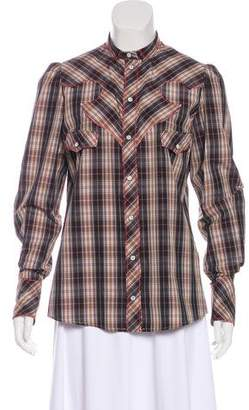 Dolce & Gabbana Long Sleeve Flannel Top