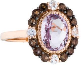 Le Vian 14K Amethyst, Smoky Quartz & Sapphire Cocktail Ring $645 thestylecure.com