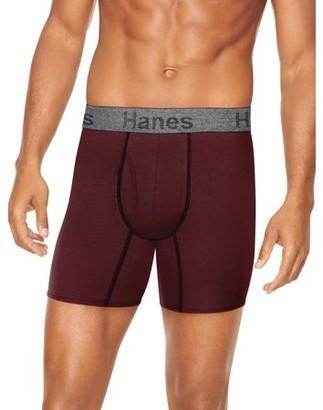 Hanes Mens ComfortFlex Fit Regular Length Boxer Brief, 3 Pack