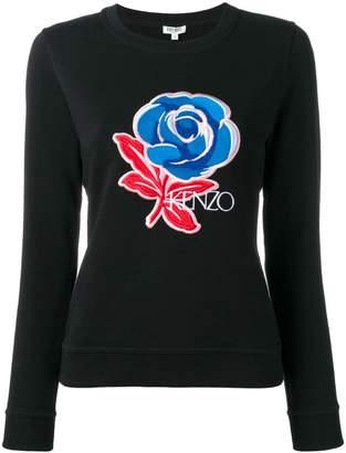 Kenzo Rose embroidered sweatshirt