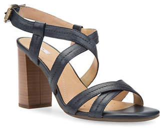 Geox Audalies Leather Slingback Sandals