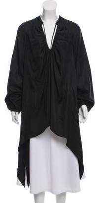 Thomas Wylde Long Sleeve Silk Top
