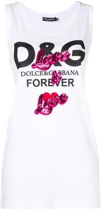Dolce & Gabbana print tank top