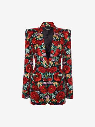 Alexander McQueen Floral Embroidered Jacket