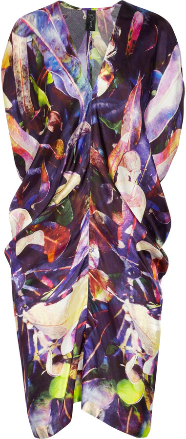 Zero+MariaCornejo Kou printed satin-twill dress