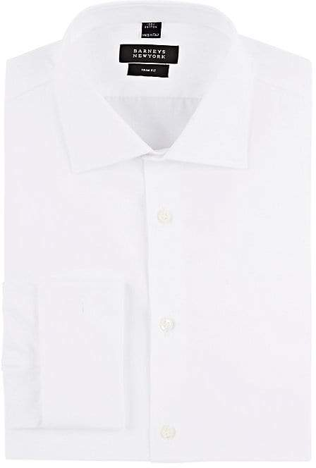 Barneys New York Men's Cotton Poplin Trim Dress Shirt