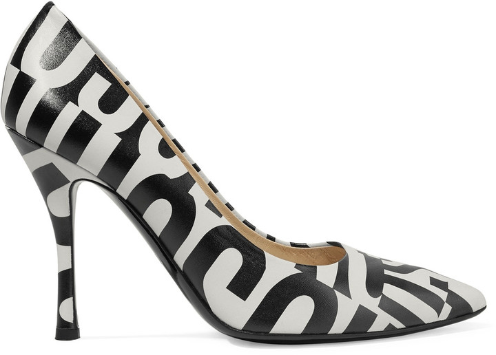 Moschino Moschino Printed leather pumps
