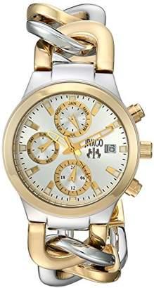 Jivago Women's JV1241 Analog Display Swiss Quartz Two Tone Watch