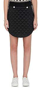 The RERACS Women's Quilted-Front Wool Miniskirt-Black