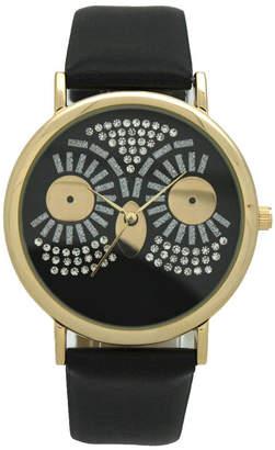 OLIVIA PRATT Olivia Pratt Owl Womens Black Strap Watch-15525black