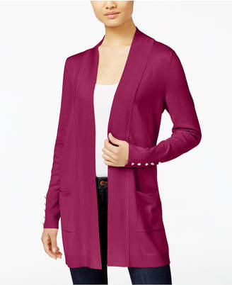 JM Collection Petite Open-Front Cardigan