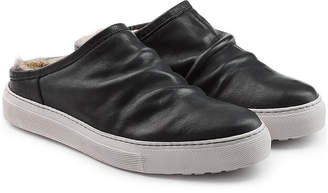 Fiorentini+Baker Bop Slip-On Leather Sneakers with Fur Insole