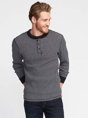 Old Navy Premium Chunky Waffle-Knit Henley for Men