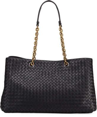 Bottega Veneta Intrecciato Medium Double Chain Tote Bag
