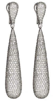 ZYDO Classic Chic 18k White Gold Diamond Dangle Earrings