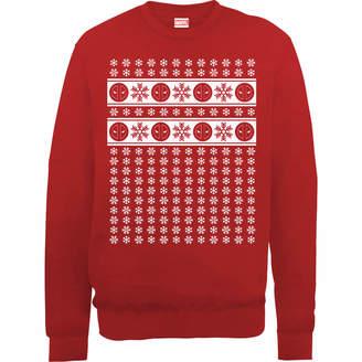 Marvel Deadpool Christmas Snowflakes Red Christmas Sweatshirt
