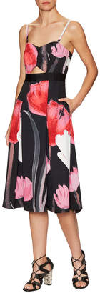 Rachel Roy Tulip Print Midi Dress