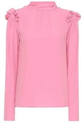 MSGM Silk crêpe di chine blouse