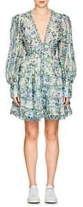 Zimmermann Women's Honeymooners Floral Linen-Silk Minidress