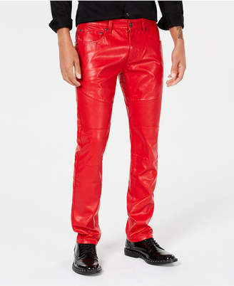 INC International Concepts I.N.C. Men's Slim-Fit Faux Leather Pants, Created for Macy's