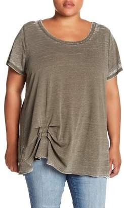 Melrose and Market Tuck Detail Faded Tee (Plus Size)