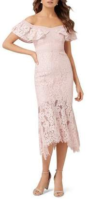 Ever New Philipa Off-the-Shoulder Short-Sleeve Lace Fit-&-Flare Dress