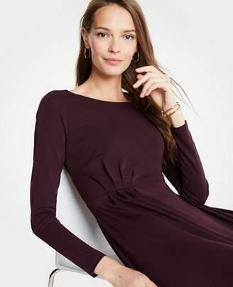 Ann Taylor Petite Pleated Waist Flare Dress