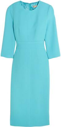 Michael Kors Collection - Stretch-wool Bouclé Dress - Light blue $1,875 thestylecure.com