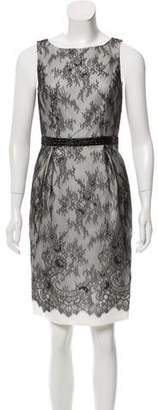 Carmen Marc Valvo Knee-Length Lace Dress w/ Tags