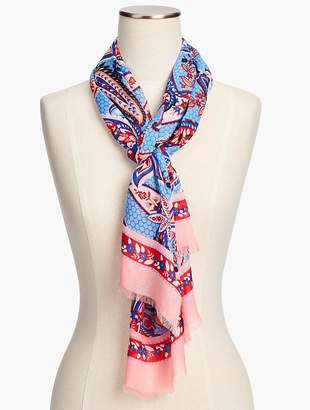 Talbots Paisley Patchwork Scarf
