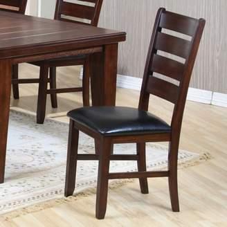 ACME Furniture ACME Urbana Side Chair, Black PU & Cherry (Set of 2)