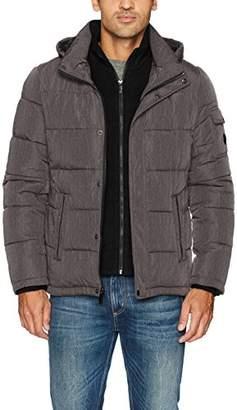 Calvin Klein Men's Alternative Down Puffer Jacket with Bib and Hood