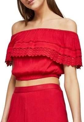 Miss Selfridge Crochet Crop Top