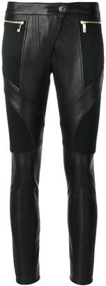 Versace leather Biker trousers
