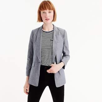 J.Crew Tall unstructured blazer in cotton-linen