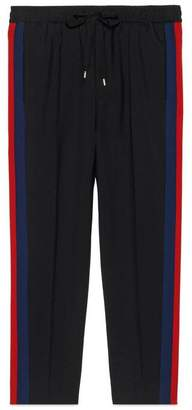 Gucci Wool cropped trousers with stripe