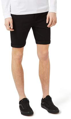 Topman Stretch Skinny Fit Denim Shorts