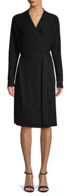 Saks Fifth Avenue Dolman Sleeve Wool-Blend Wrap Dress