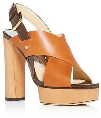 Jimmy Choo Women's Aix 125 High Block-Heel Platform Sandals