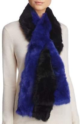 Surell Pieced Rabbit Fur Scarf - 100% Exclusive